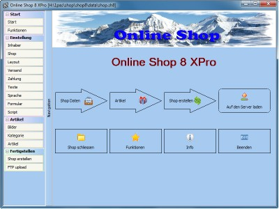 Freeware Online Shop 8.0.0.16 screenshot