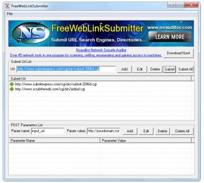 FreeWebLinkSubmitter 1.3.2 screenshot