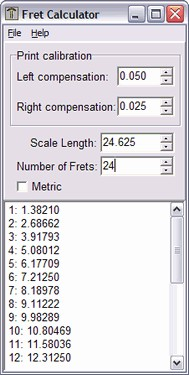 Fret Calculator 1.0.1.12 screenshot