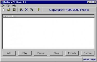 Froebis MP3 Studio 1.6 screenshot