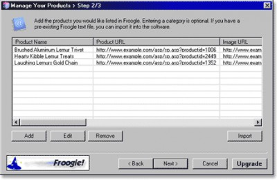 Froogie Froogle Submit 1.8 screenshot