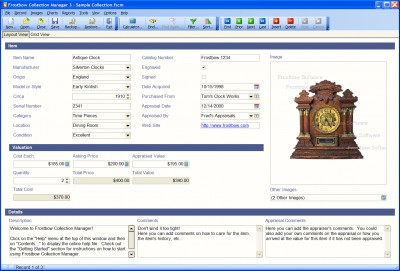 Frostbow Collection Manager 3.2.6 screenshot