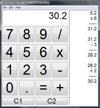 FRS Talking Calculator 1.6 screenshot