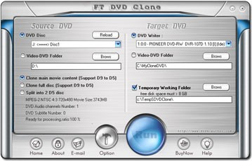 FT DVD Clone 4.1.0 screenshot