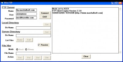 FTP Client Engine for Visual Basic 2.5 screenshot