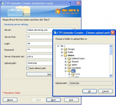 FTP Client Uploader Creator for Windows 5.1.2 screenshot