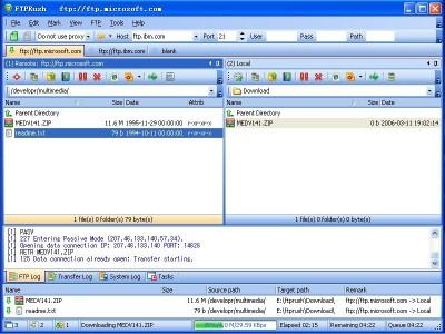 FTPRush 1.1a screenshot