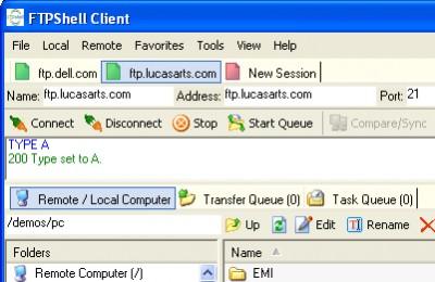 FTPShell Client 5.22 screenshot