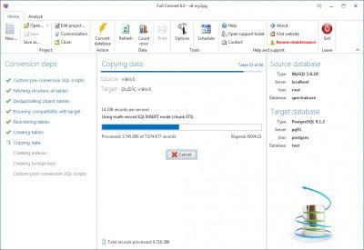 Full Convert Enterprise 6.11 screenshot