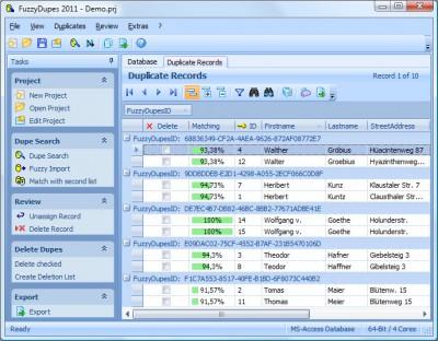 FuzzyDupes 2011 7.0.1 screenshot