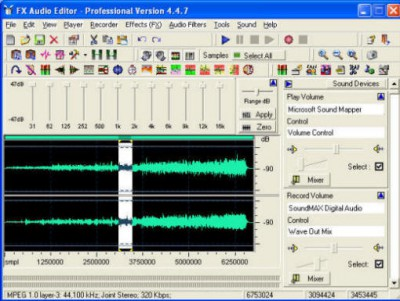 Fx Audio Editor Series 4 4.7.13 screenshot