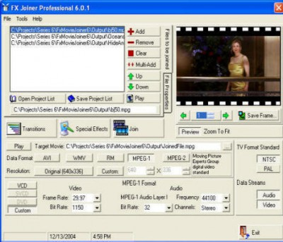 Fx Movie Joiner 6.2.11 screenshot