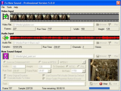 Fx New Sound Movie Audio Replacer 5.1.3 screenshot