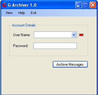 G-Archiver 1.0 screenshot