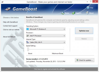 GameBoost 3.6.26.201 screenshot