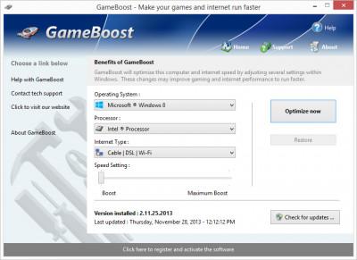 GameBoost 3.9.21.202 screenshot