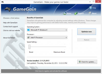 GameGain 4.4.6.2020 screenshot