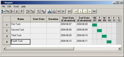 GanttPV - Project Scheduling Software v0.6 screenshot