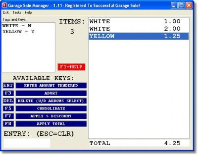 Garage Sale Manager plus eBook 1.35 screenshot