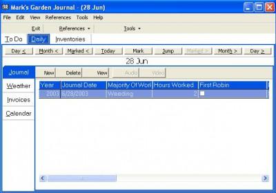 Gardener's Journal Premium Edition 3.1 screenshot