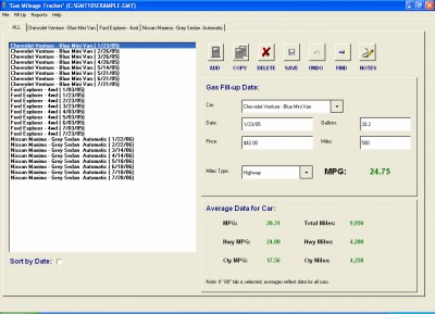 Gas Mileage MPG Tracker 2.1.1 screenshot