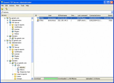 Gene6 FTP Server 3.10.0 screenshot