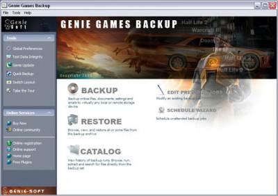 Genie Games Backup 6.0 screenshot