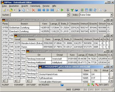 Geo Data German Admin (English) 11.11 screenshot