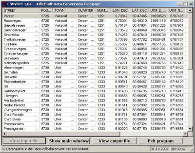 Geo Data International Streets (English) 1.00 screenshot