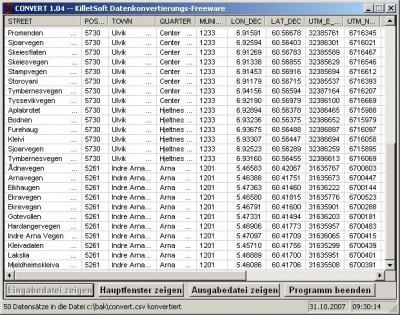 Geodaten International Streets (Deutsch) 1.00 screenshot