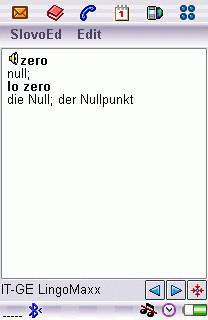 German-Italian Dictionary for UIQ 2.0 screenshot