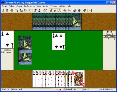 German Whist by MeggieSoft Games 2008 screenshot