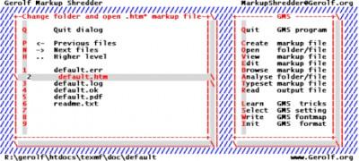Gerolf Markup Shredder 0.08a screenshot