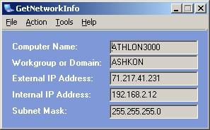 GetNetworkInfo 2.45 screenshot