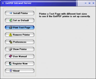 GetPDF lntranet Server 2.21 screenshot