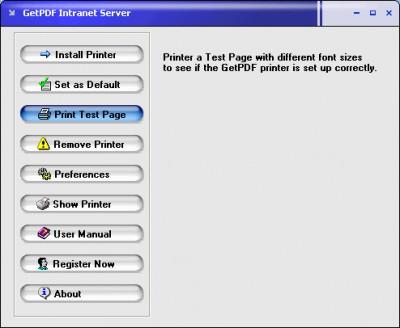 GetPDF lntranet Server 2.21 screenshot