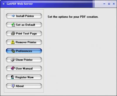 GetPDF Web Server 3.0 screenshot