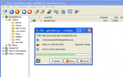 GetRight 6.5 screenshot