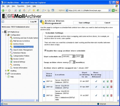 GFI MailArchiver for Exchange 6.1 screenshot
