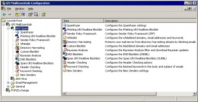 GFI MailEssentials for Exchange/SMTP 2010 screenshot