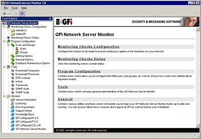 GFI Network Server Monitor 7 screenshot