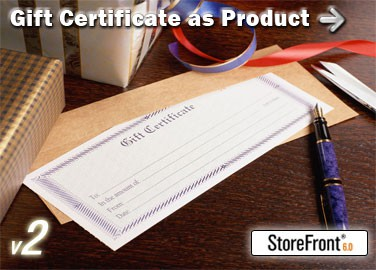 Gift Certificate Add-On for StoreFront 2.2 screenshot