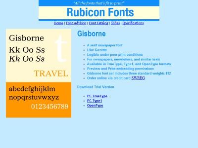Gisborne Font Type1 2.00 screenshot