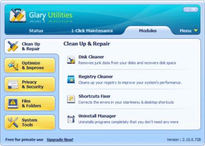 Glary Utilities 2.56.0.182 screenshot