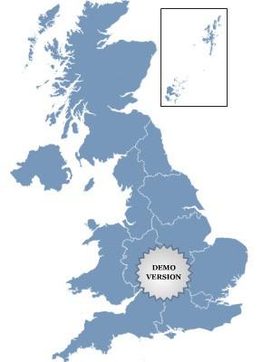 Golden UK Map 1.0 screenshot