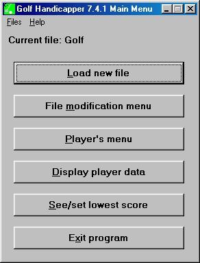 Golf Handicapper 8.0.0 screenshot