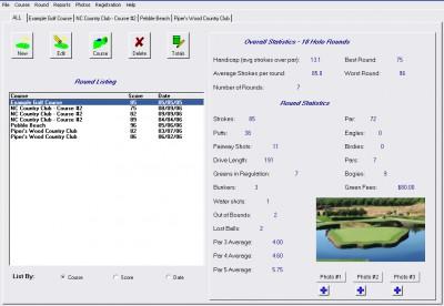 Golf Tracker 5.1 screenshot