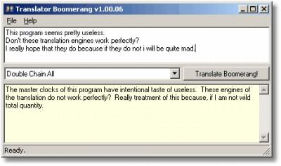 Google Translator Boomerang 1.09.01 screenshot