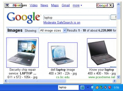Googol Deskbar 2.0 screenshot
