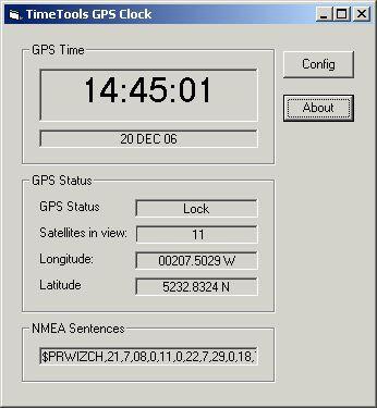 GPS Clock 1.0.001 screenshot